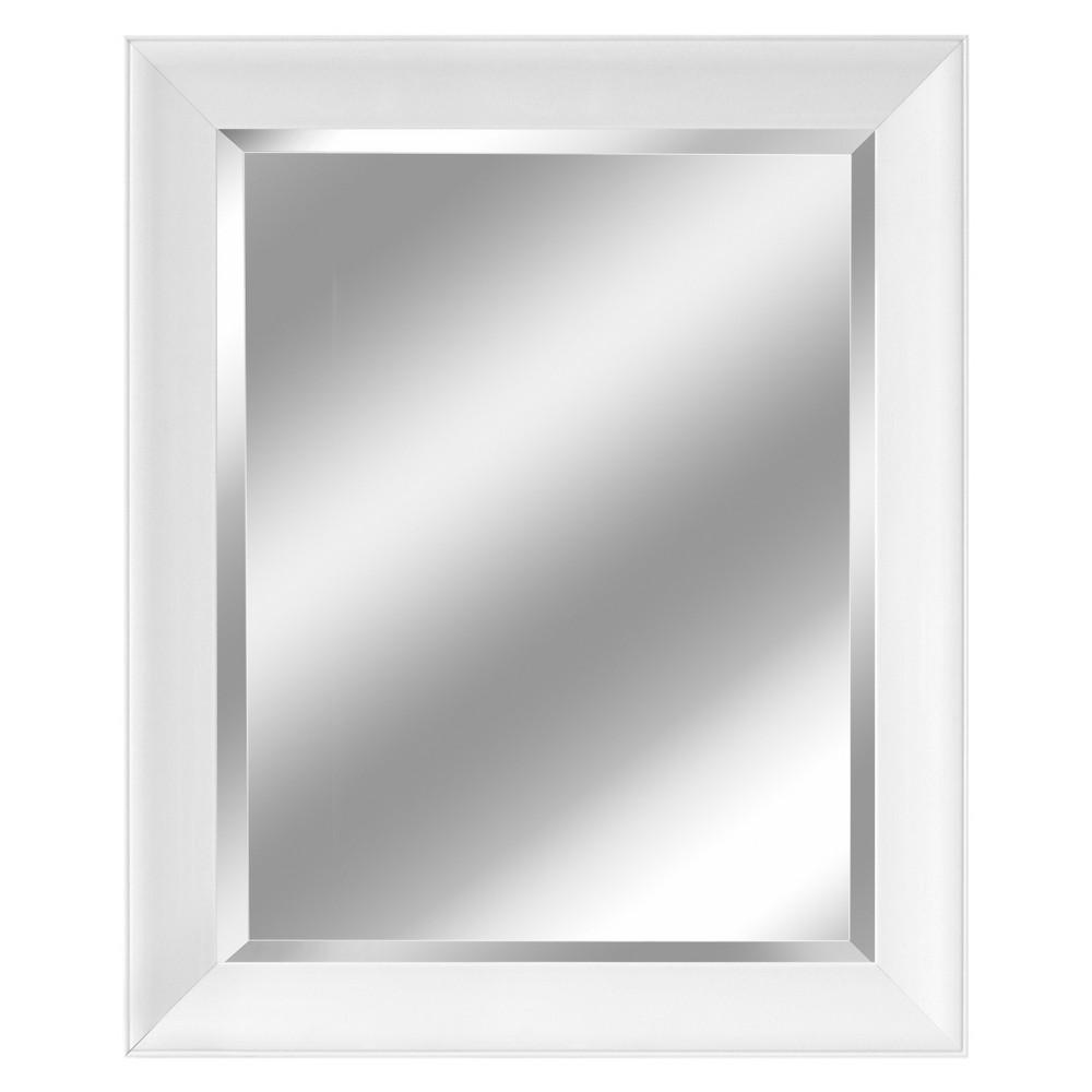 "Image of ""Head West 28"""" x 34"""" Artic Matte White Mirror, Multi-Colored"""