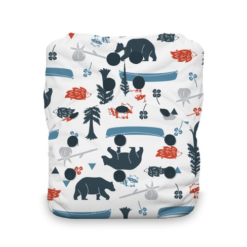 Thirsties | Natural One-Size All-in-One Snap Cloth Diaper Pack of 1 - image 1 of 2