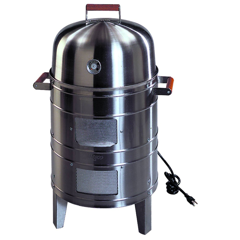 Image of Americana 5025 Charcoal Stainless Steel Water Smoker - Meco, Silver