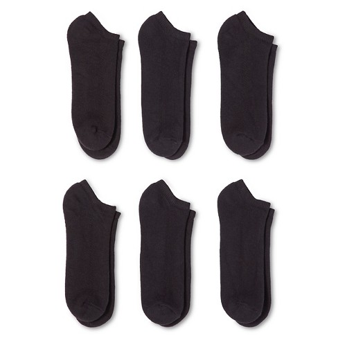 Men's Fruit of the Loom® Breathable 6pk black no show 6-12 - image 1 of 2