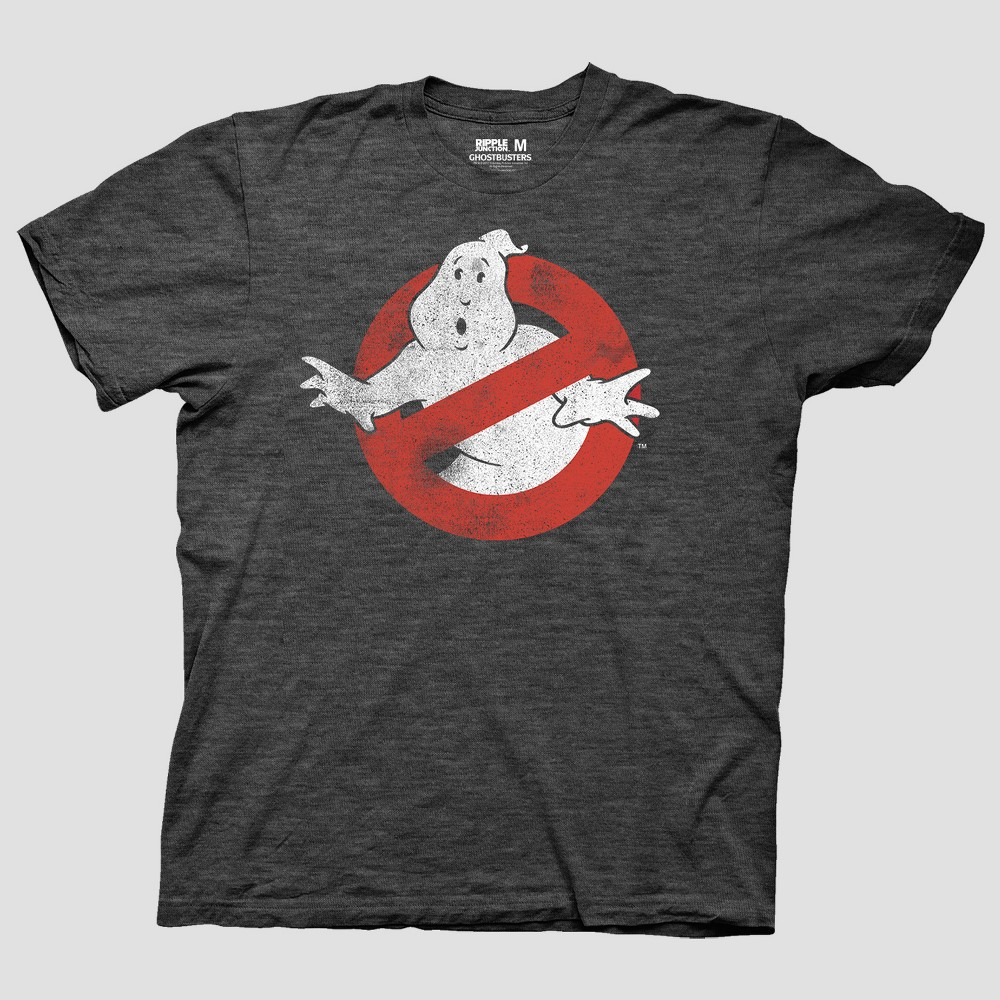 Men's Ghostbusters Short Sleeve Graphic T-Shirt - Charcoal Heather 2XL, Gray