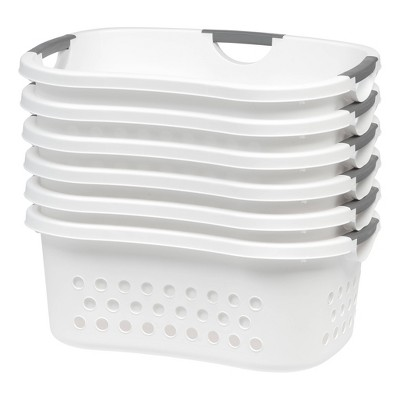 IRIS 6pk Comfort Carry Laundry Basket - White