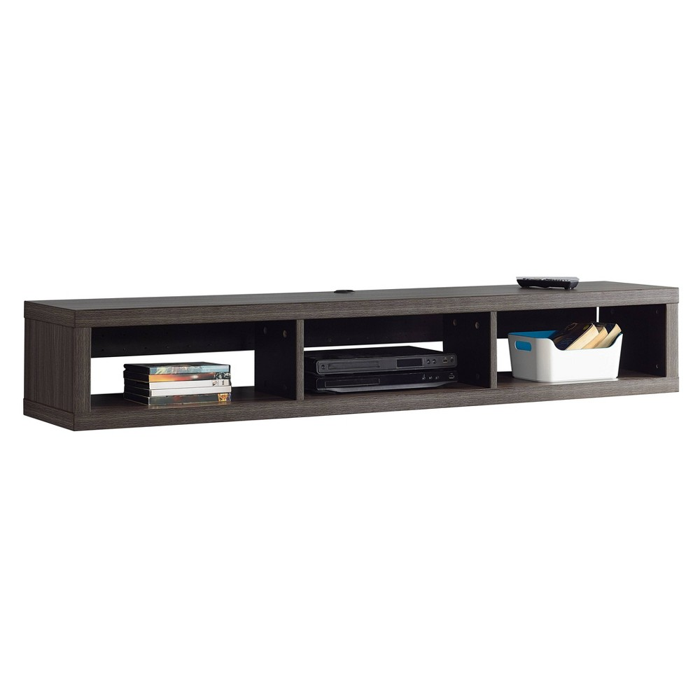 "Image of ""60"""" Wall Mounted Media Console Gray - Martin Furniture, Size: 60"""""""
