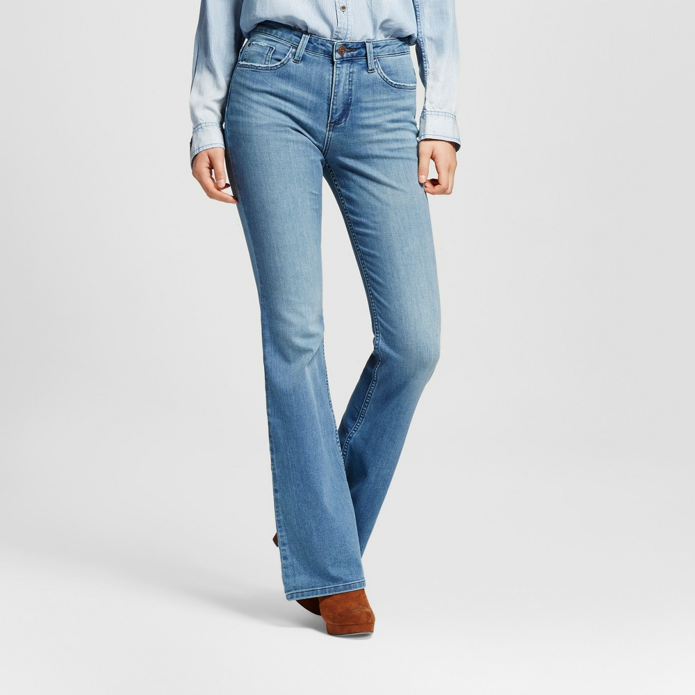 Women's Beckett High Rise Flare Jeans Polaris 2 Long - Crafted by Lee, Blue