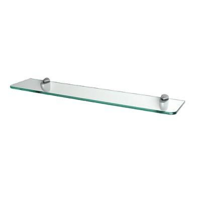 Clear Glass Shelf with Curved Brackets - 24