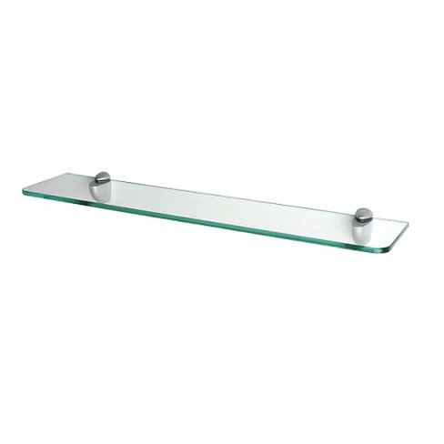 """Clear Glass Shelf with Curved Brackets - 24"""" - image 1 of 3"""