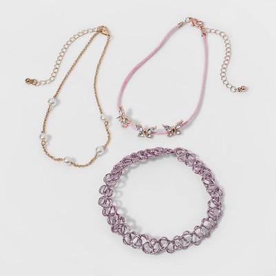 Girls' Stretch Choker Butterfly Necklace - Cat & Jack™ Gold