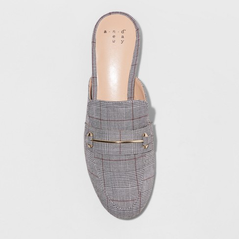 643c28e991e Women s Remmy Plaid Backless Loafers - A New Day™. Shop all A New Day