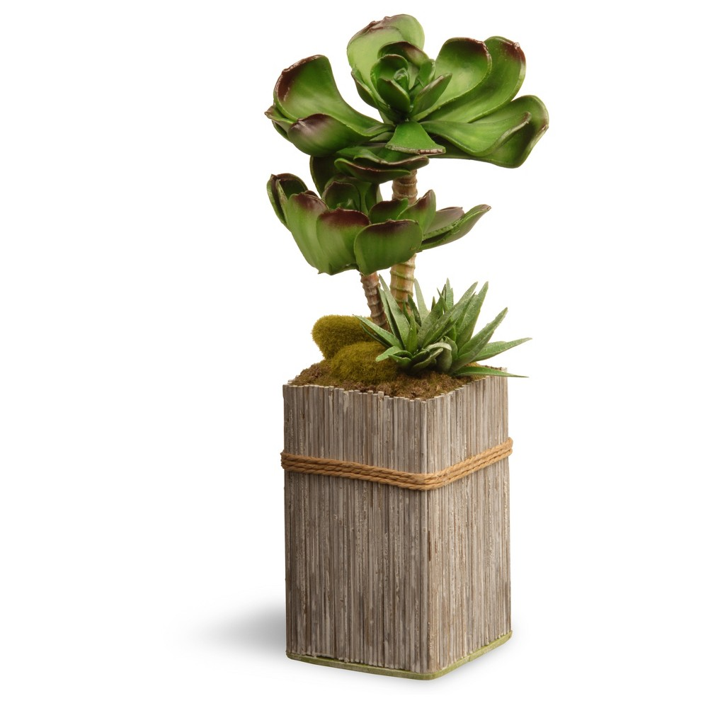 """Garden Accents Artificial Succulent Plant Green 11"""" - National Tree Company"""