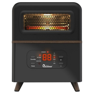 Dr. Infrared Heater DR-978 1500 Watt Dual Heating Hybrid PTC & Infrared Portable Space Heater with Remote Control, Black