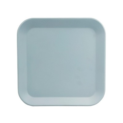 Square Melamine Dinner Plate 10.5  Ripple Blue - Room Essentials™