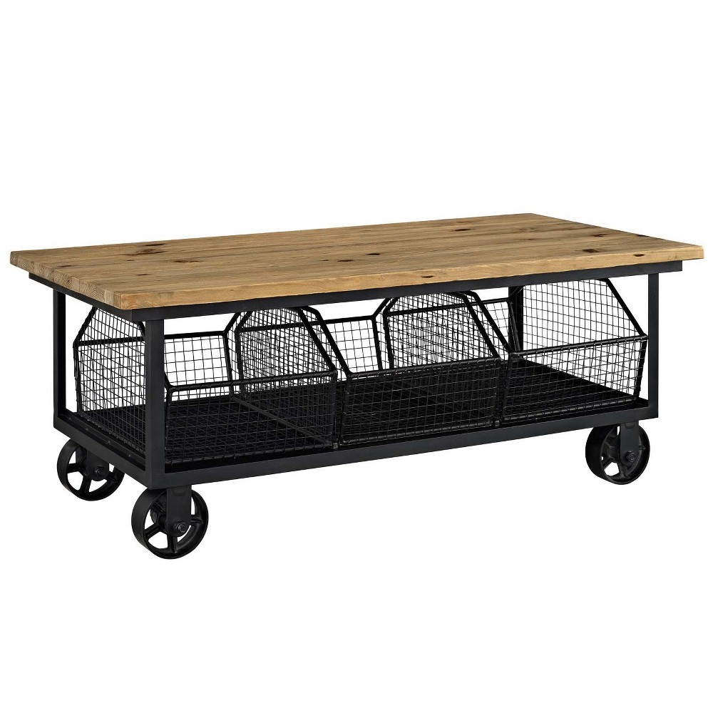 Fairground Coffee Table Brown - Modway