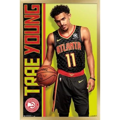 Trends International NBA Atlanta Hawks - Trae Young 18 Framed Wall Poster Prints