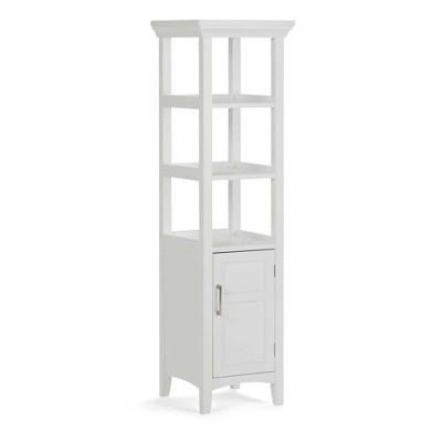 Avington Bath Storage Tower ( 20.5'' W x 15'' D x 30'' H )White - Simpli Home