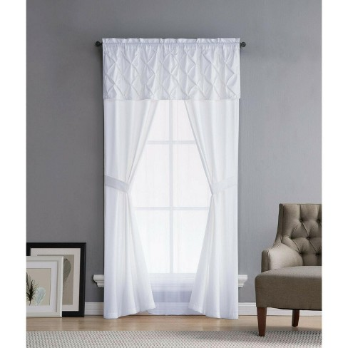 Kate Aurora Complete 5 Pc. Ruffled Window in a Bag Curtain Set - image 1 of 1