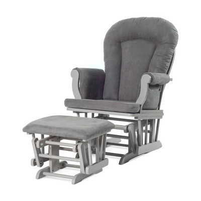 Forever Eclectic Cozy Glider and Ottoman - Gray