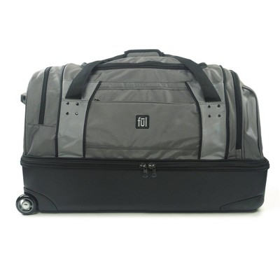 """FUL Workhorse 30"""" Rolling Duffel Bag with Retractable Pull Handle - Black"""