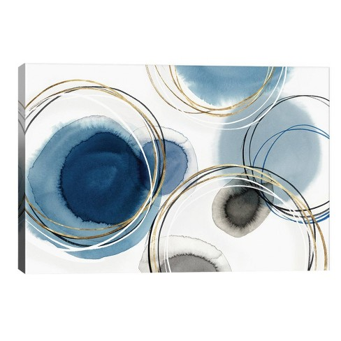 12 X 18 Infinity I By Isabelle Z Unframed Wall Canvas Print Indigo Icanvas Target