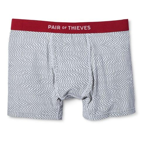 Pair Of Thieves® Men s Super Fit Boxer Briefs - Black White   Target 85e272ea5c96