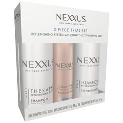 Nexxus Replenishing System With Comb Thru Finishing Mist Hair Care Trial Set - 3pc