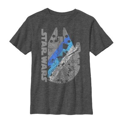 Boy's Star Wars Millennium Falcon Shadow T-Shirt
