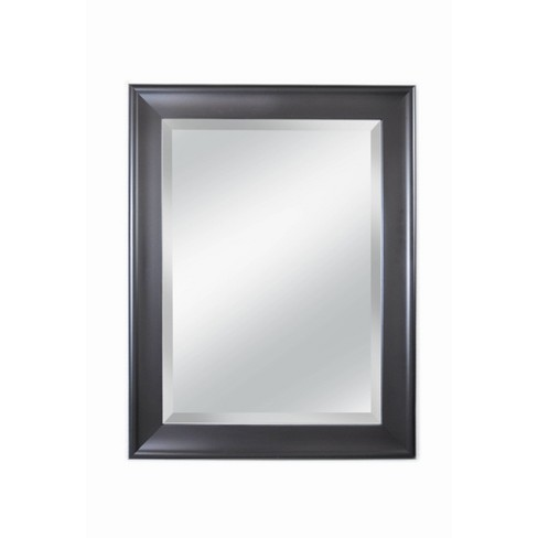 """21"""" x 27"""" Concept 2.5"""" Wide Black Framed Beveled Glass Wall Mirror - Alpine Art and Mirror - image 1 of 4"""