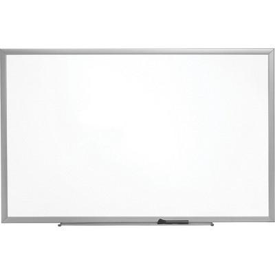 Staples Standard Melamine Whiteboard Aluminum Finish Frame 2'W x 1.5'H 1682293