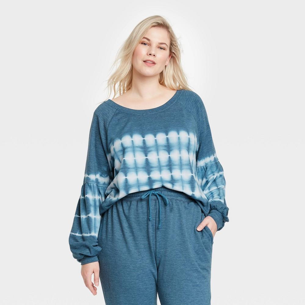 Women 39 S Plus Size Tie Dye Sweatshirt Knox Rose 8482 Navy 1x