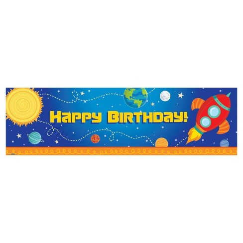 Rocket to Space Party Banner - image 1 of 1