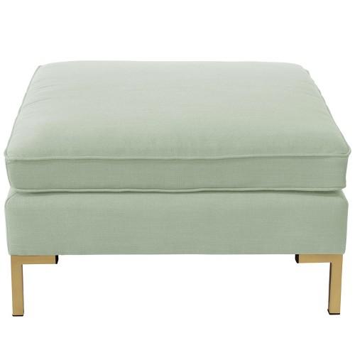 Pillowtop Ottoman - Linen Swedish Blue - Designlovefest