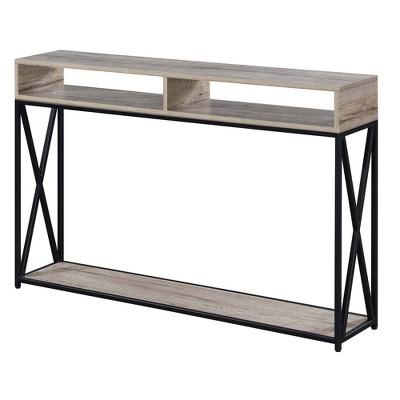 Tucson Deluxe 2 Tier Console Table Sandstone - Breighton Home