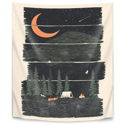 Americanflat Wish I Was Camping by NDTank Wall Tapestry