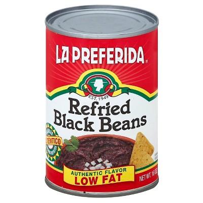 Beans: La Preferida Low Fat Refried Black Beans
