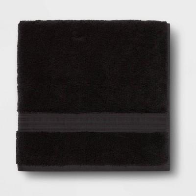Antimicrobial Bath Towel Black - Total Fresh