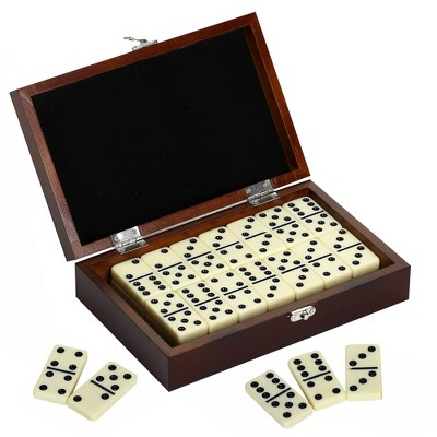 Hathaway Premium Domino Game Set with Wooden Carry Case