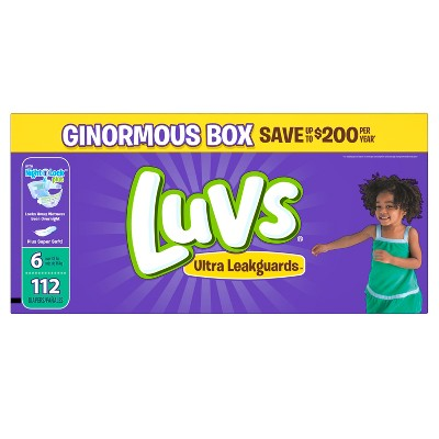 Luvs Diapers, Ginormous Pack - Size 6 (112ct)