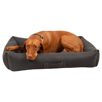 Felt Euro Cuddler Pet Bed - Large - Radiant Gray - Boots & Barkley™