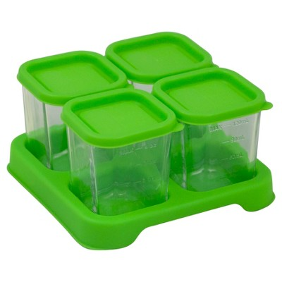 green sprouts® Fresh Baby Food Glass Cubes 4oz 4 pack - Green