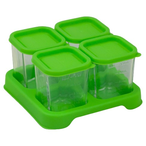 Green Sprouts® Fresh Baby Food Glass Cubes- 4oz- 4pk - image 1 of 3