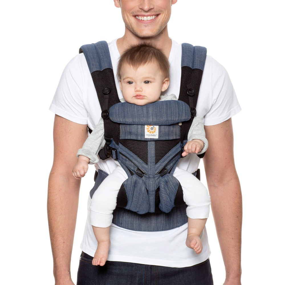Image of Ergobaby Omni 360 Cool Air Mesh All Carry Positions Baby Carrier - Indigo, Blue
