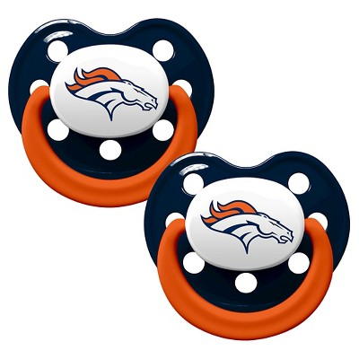 Denver Broncos Baby Fanatic Pacifiers - 2 Pack