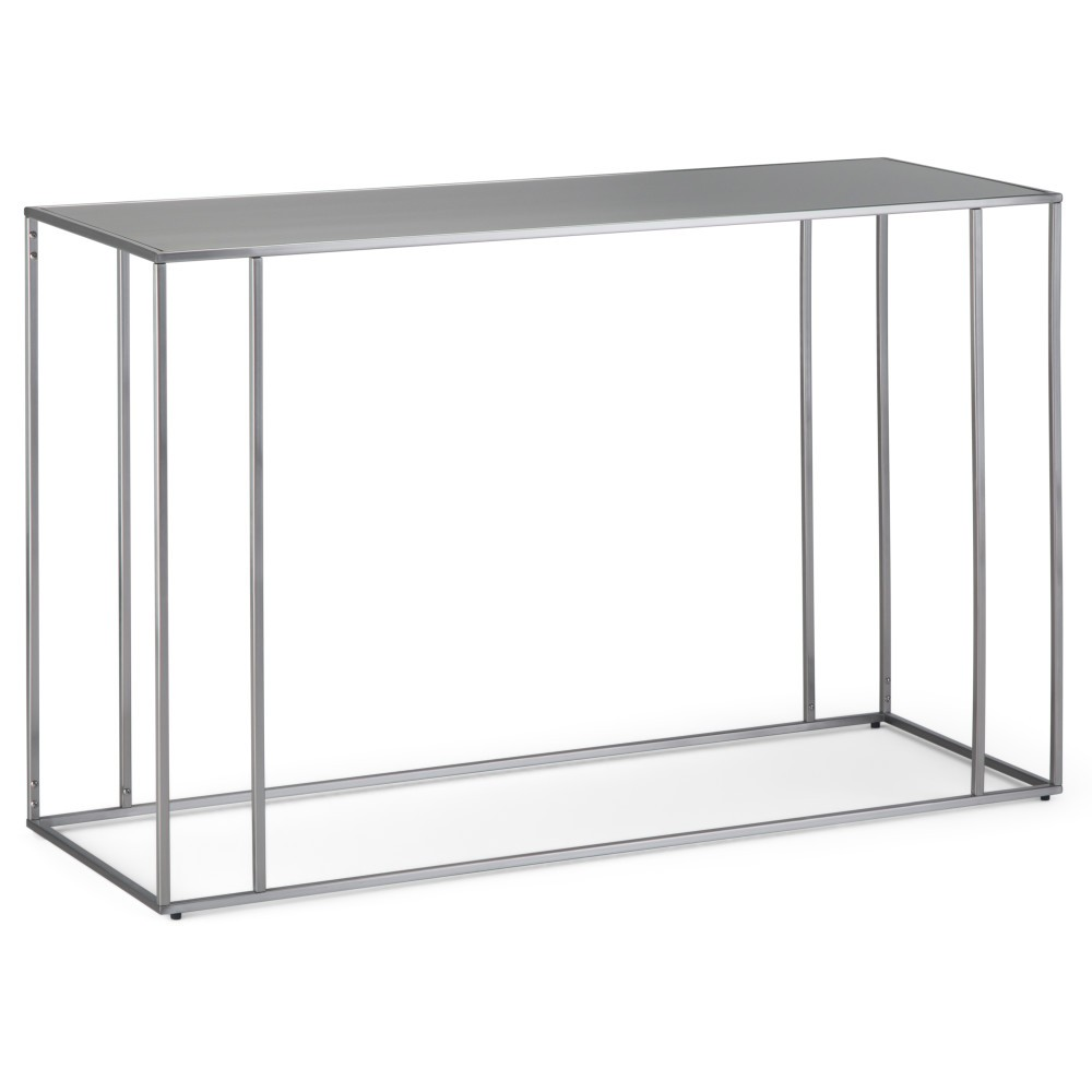 Daley Console Table Stainless Steel (Silver) - Wyndenhall