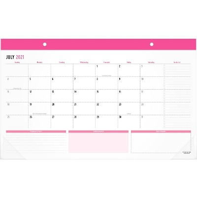 """2021-22 Academic Monthly Planner 17.75"""" x 10.875"""" Pink - Five Star"""