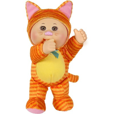 """Jazwares Cabbage Patch Kids Cuties Collection, Kallie The Kitty Baby Doll 9"""""""