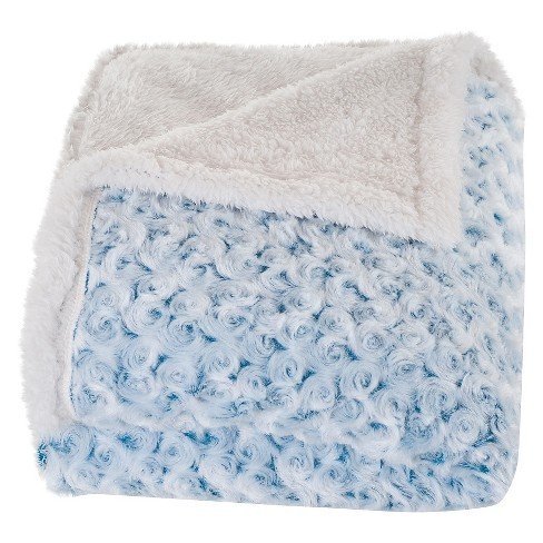 Plush Flower Fleece Sherpa Backed Throw - Yorkshire Home - image 1 of 4