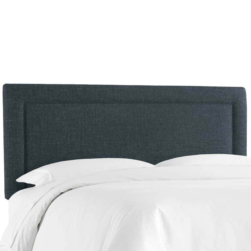 Border Headboard - Navy (Blue) - California King - Skyline Furniture