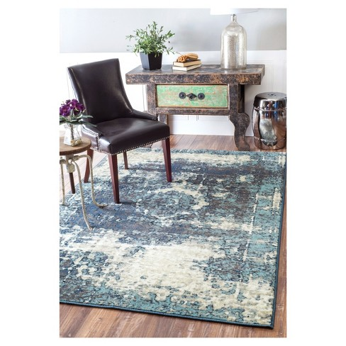 """Blue Solid Loomed Area Rug - (5'3""""x7'8"""