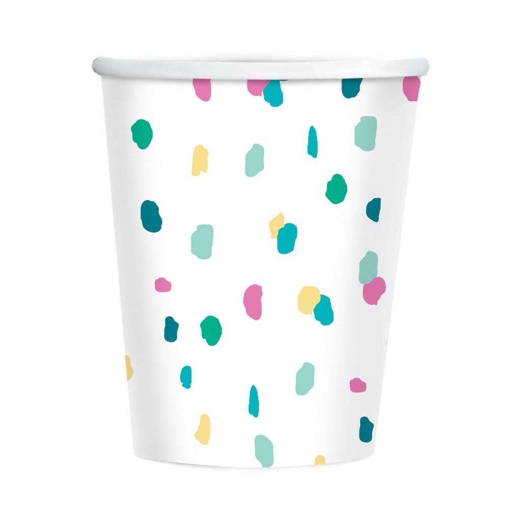 Image of 10ct Confetti Paper Cups - Spritz