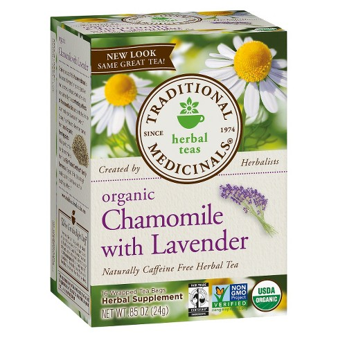 Traditional Medicinals Organic Chamomile with Lavender Herbal Tea - 16ct - image 1 of 1