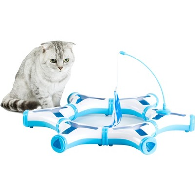 PawsMark Configurable Interactive Cat Toy with Spring Feather Teaser